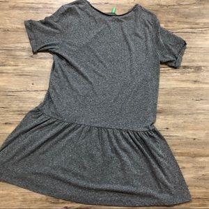 United Colors of Benetton cotton grey dress M